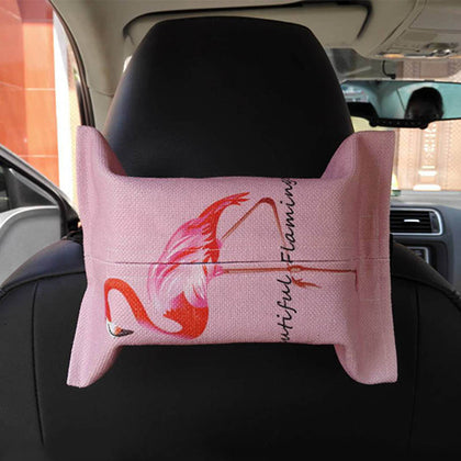 Creative car box ins sun visor car hanging paper bag car seat back cotton small fresh car