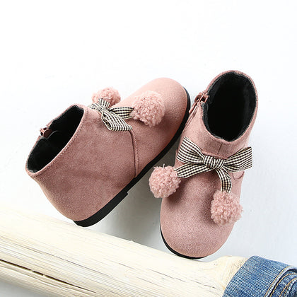 19015 children's shoes wholesale 2019 winter new velvet baby toddler shoes cute children's cotton shoes