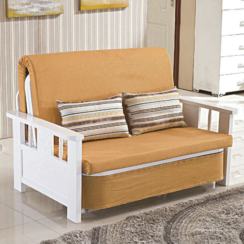 Multifunctional sofa bed folding living room double single dual-use solid wood sofa bed