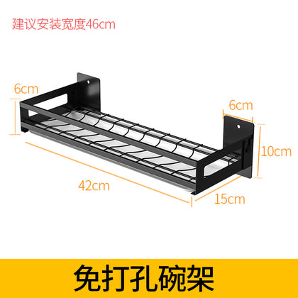 【Manufacturer Sale】Free punching dishes drain rack stainless steel kitchen rack spice rack cutting board rack