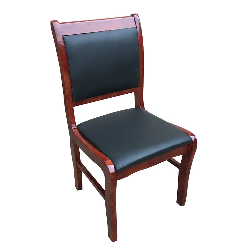Office solid wood conference chair boss armchair hotel lobby reception soft backrest staff training chair