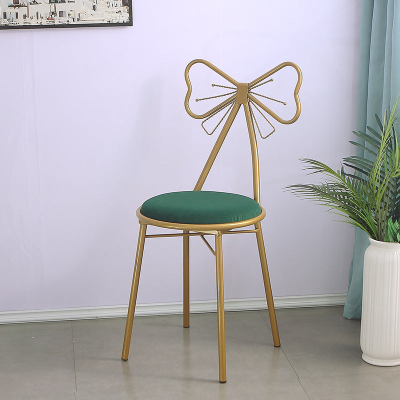 Nordic Light Luxury Chair backrest Bedroom Girl Home net red Makeup Stool Dressing Table Modern Minimalist ins Style