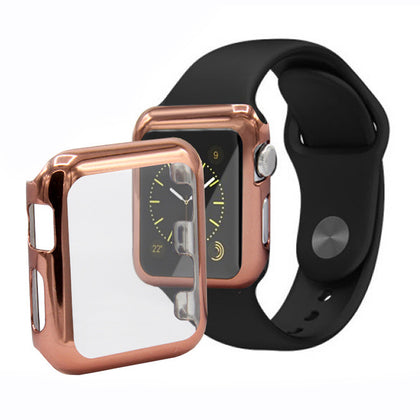 Suitable for iwatch watch case full surround protective cover electroplated PC case Apple watch protective case 3 generation 4 5 generation