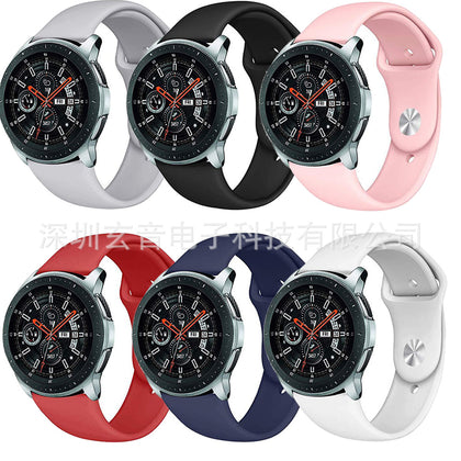 Suitable for Samsung galaxy watch 46mm 42mm Apple buckle silicone strap sports watch strap