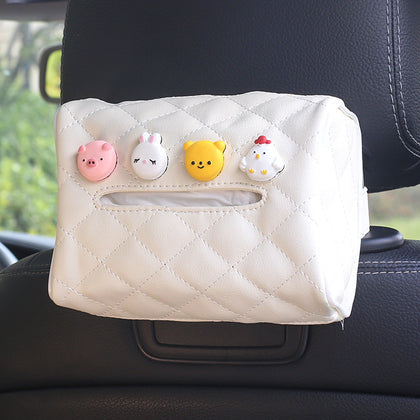 Creative Hanging Carton Sunroof Napkin Carton Cartoon Car Car Leather Armrest Box Tissue Box