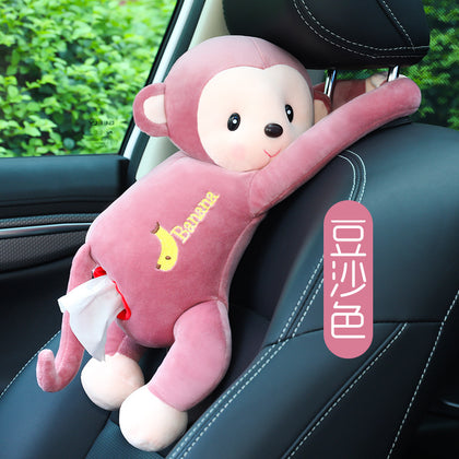 Car car accessories box tissue box pumping creative chair back hanging tissue car armrest decoration cartoon cute female