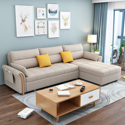 Factory direct Nordic simple modern fabric sofa bed small apartment for rent