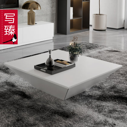 White piano lacquered coffee table