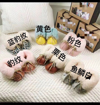 0131 sheep fur one baby soft bottom shoes indoor floor shoes