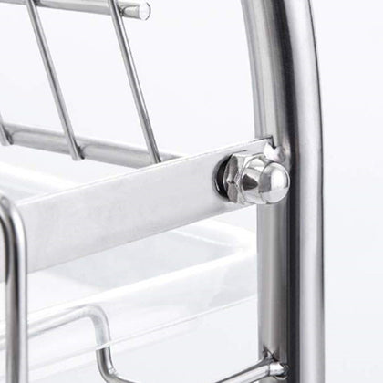 304 stainless steel dish rack kitchen supplies storage rack stainless steel double drain drain dish rack cross-border foreign trade