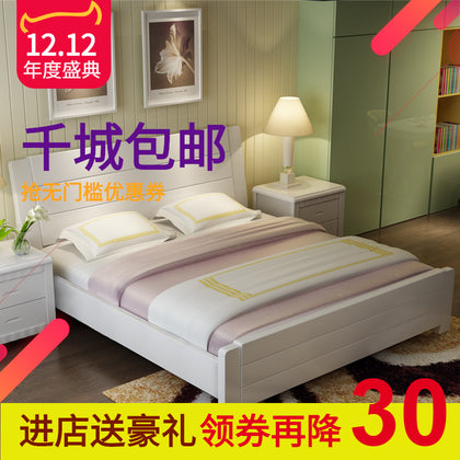 European solid wood princess bed 1.8 m double bed 1.5 m master bed French special bed bed bed high box storage bed