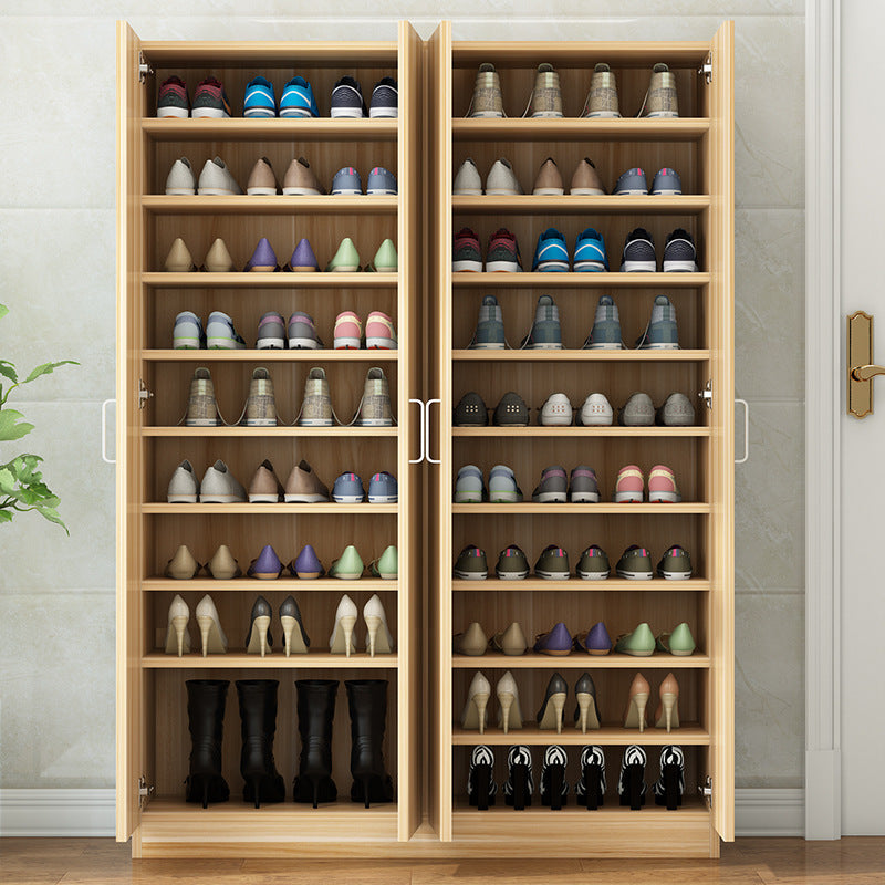 Shoe cabinet simple modern balcony sun locker shoe rack economy door shoe rack large capacity solid wood porch cabinet