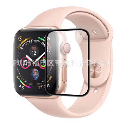 Suitable for Applewatch 4/5 protective film 44MM curved surface 3D full cover Apple Watch 42 full rubber tempered film