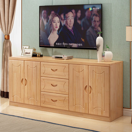 Solid wood TV cabinet Pine TV cabinet Simple locker Floor cabinet Low cabinet Multifunctional locker