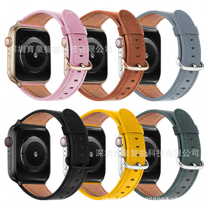 For Apple Watch iwatch strap leather classic buckle shrink slimming watch strap factory direct sales
