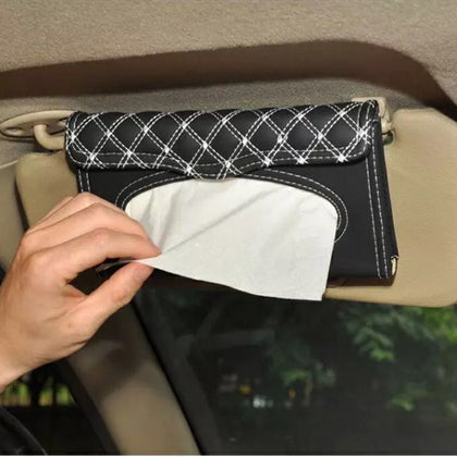 Suitable for tide brand Supreme car tray car sun visor hanging car tissue box meal men and women