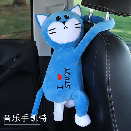 Car tissue box family car hanging creative dual-use fleece cute cartoon car interior decoration products