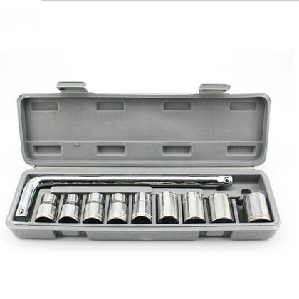 10 piece set 8-21mm auto repair socket wrench combination on-board repair tool box set