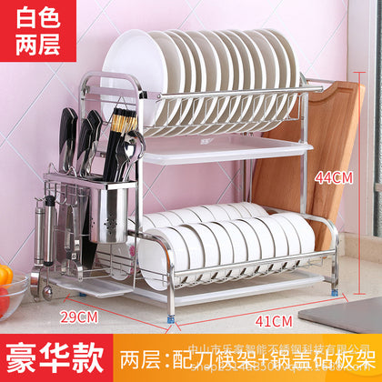304 stainless steel bowl rack drain rack air tableware chopsticks dishes dishes supplies storage box kitchen shelf 3 layers