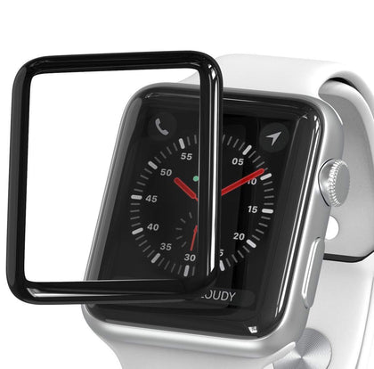 Suitable for Apple Watch HD Tempered Film 3D Full Cover Hot Bent Glass Watch 40 / 44MM Protective Film