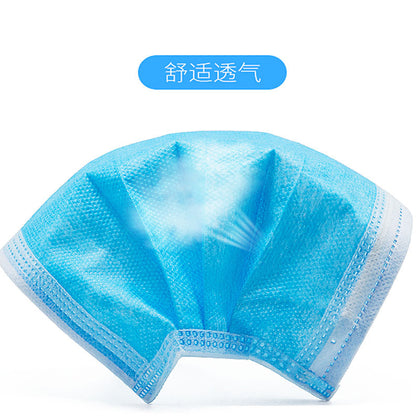 Direct batch of three-layer blue mask disposable mask N95 dustproof non-woven mask bacteria filter protective mask