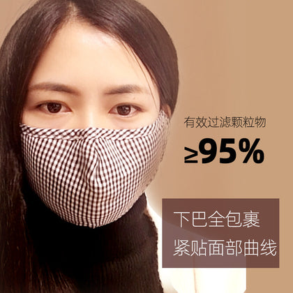 PM2.5 anti-fog and dust-proof adult cotton mask black male and female warm autumn and winter breathing valve mask wholesale