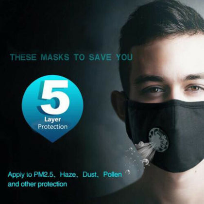 Pure cotton anti-haze and PM2.5 dust-proof mask with breathing valve