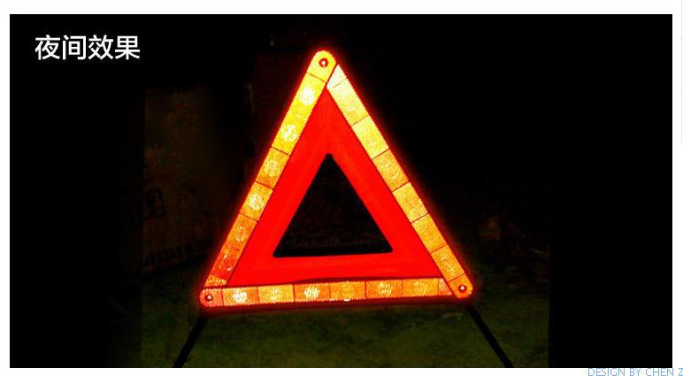Car triangle warning sign reflective tripod parking warning sign safety stop sign folding large