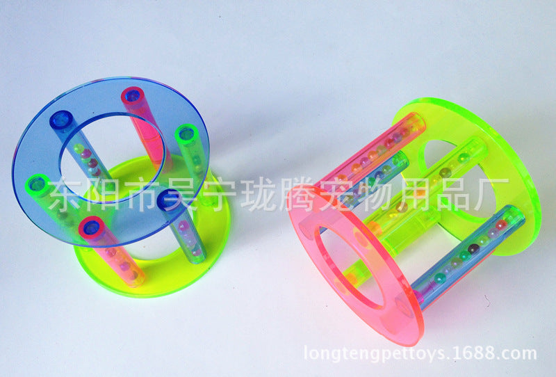 New pet toy【Large color acrylic cylindrical roller】Dutch rat rabbit toy, bird toy