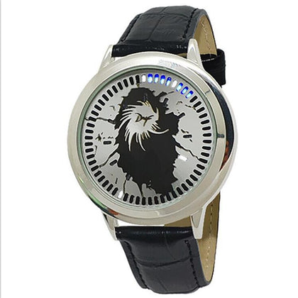 Factory Wholesale Explosive 60 Light Touch Watch For Men And Women Belt Fashion LED Watch