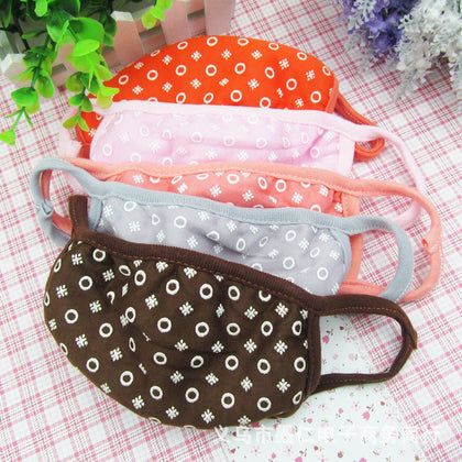 H013 Clearance Winter Cotton Mask Ladies Adult Bubble Printing Cotton Mask Dust-proof Mask