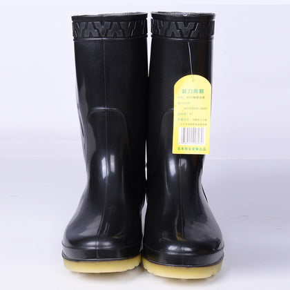 Wholesale high tube rain boots boots industrial boots water shoes waterproof and oil-proof acid and alkali wear-resistant anti-slip custom printing