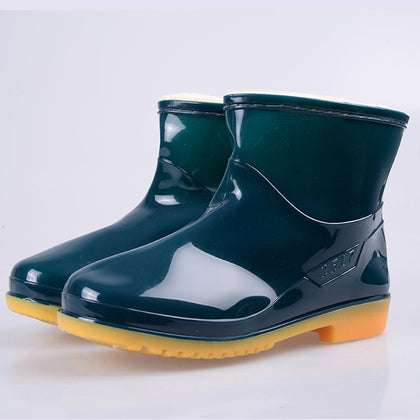 Wholesale low-tube women's cotton boots water boots water shoes beautiful and generous waterproof warm oil-resistant wear-resistant acid and alkali
