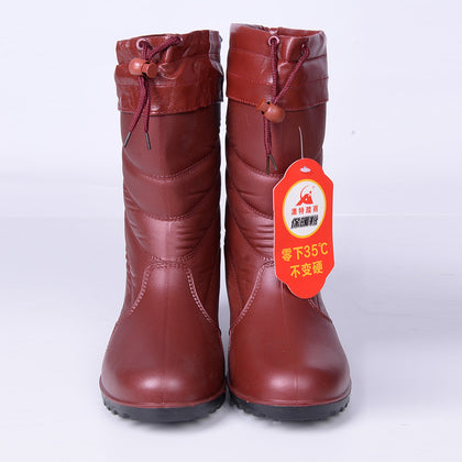 Wholesale water boots cotton boots women test cotton water shoes wear waterproof warm and comfortable beautiful