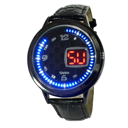 Factory Direct New Fashion LED Watch with Calendar 60 Lights Round Touch Watch