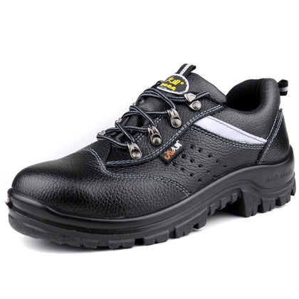 Not lame breathable protective shoes oil and acid safety shoes anti-static work shoes insulation protective shoes anti-piercing shoes