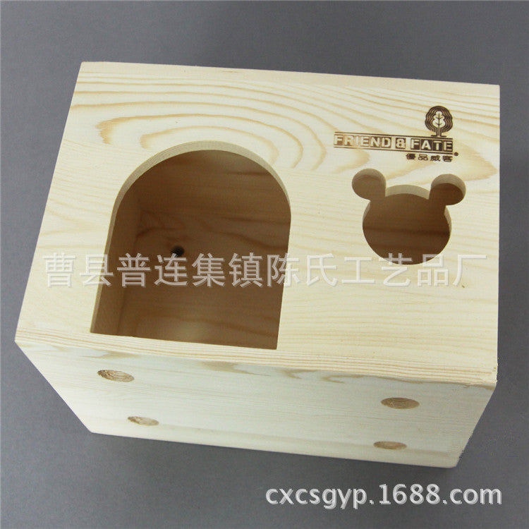 Cao County wood products manufacturers selling solid wood couples chinchillas cage hamsters nest custom wholesale wooden hamster house