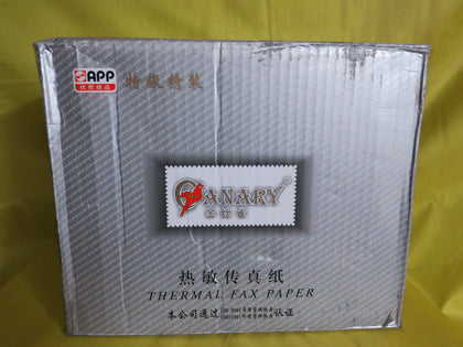 Supply wholesale【Canary】Premium hardcover fax paper. Thermal fax paper.216(210)mmX30m