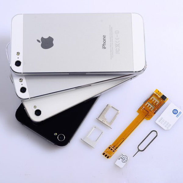 Factory wholesale iphone6 double cartoon 5s dual card single standby modified double number Apple 6p dual card artifact
