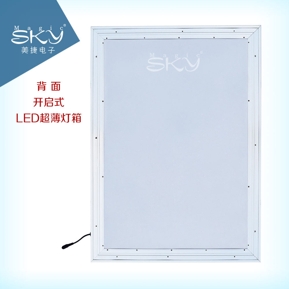 Aluminum alloy light box LED ultra-thin wall-mounted custom advertising light box Studio building indoor advertising logo