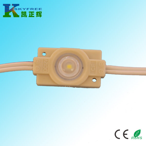 2835 injection molding LED module, 2835LED lens injection molding module, 2835 patch 0.6W lens led module