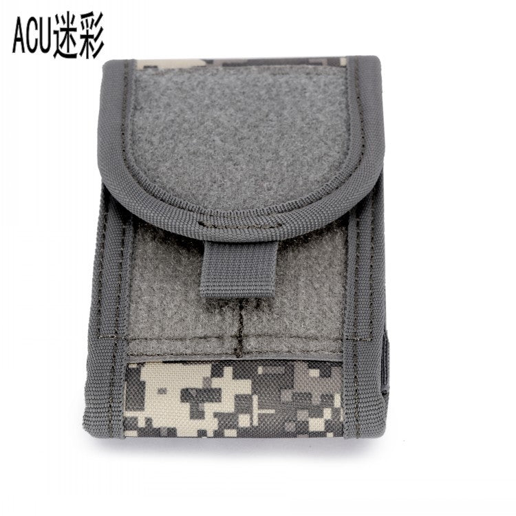 EDC Custom Thick Genuine Leather Tactical Coin Purse with wrist strap