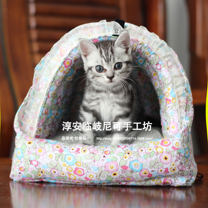 【large】 Removable and washable small pet Dutch pig cotton nest winter warm rabbit house squirrel tortoise