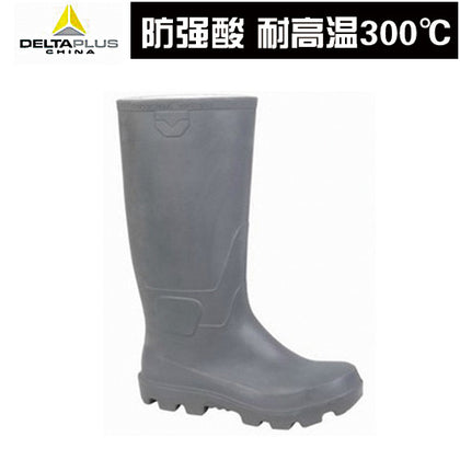 Delta 301409 anti-chemical boots high-top rubber anti-acid strong electrostatic high temperature 300 ° C corrosion resistance