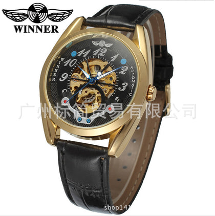 A generation of foreign trade hot-selling Winner authentic men's full hollow automatic mechanical watch