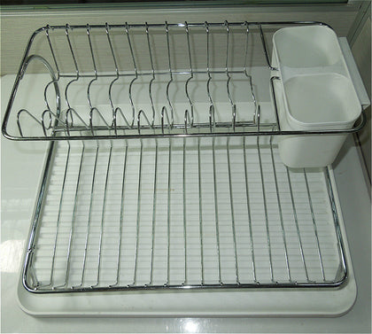 201 stainless steel drain rack with chopstick tube suitable for 2-8 people