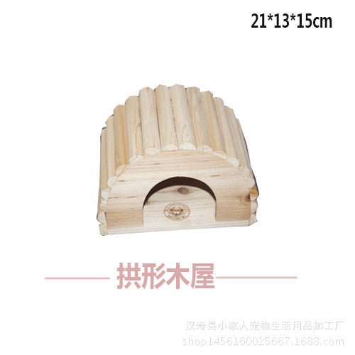 Variety Chinchilla Squirrel Chalet Devil's Guinea Pig Heatstroke Pet Arched Wood Nest High Quality Wooden Chinchilla House