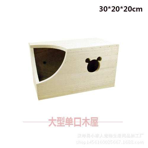 A variety of Totoro squirrels, guinea pigs, wooden house, devil, squirrel, wooden nest, pets, wooden nest, summer heat, large single-mouth wooden house