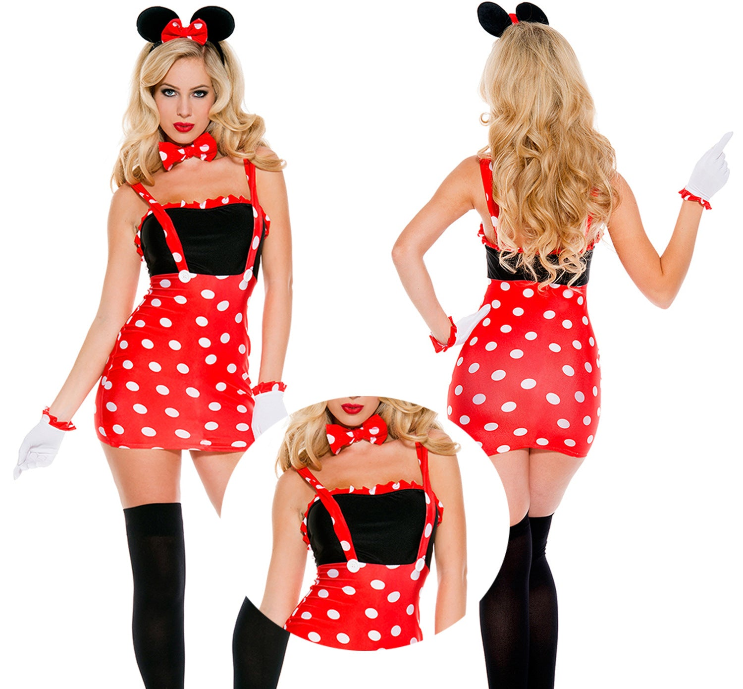 2019 new one-piece exposed waist Minnie Princess role-playing Mickey Halloween party night dance