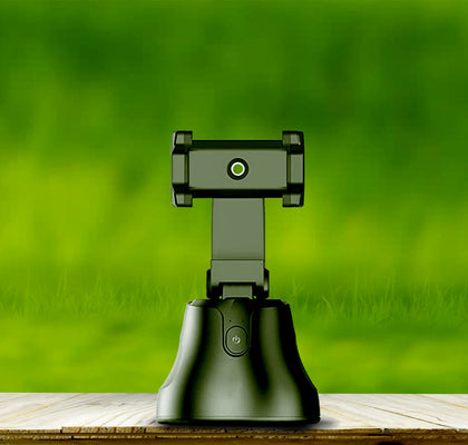 Smart Robotic 360 Rotation Camera holder for all mobile phones (Selfie stick)